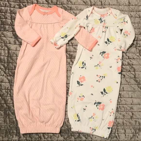 bd40f423e92d Carter's Other - Carter's Baby Girl Set of 2 Sleeper Gowns-Preemie
